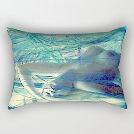 SEXY ART NUDE BLOND LADYKASHMIR Rectangular Pillow