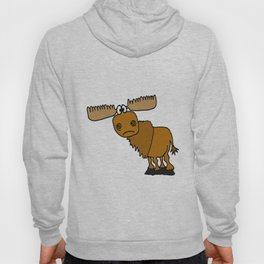 Funny Silly Moose Artwork Hoody