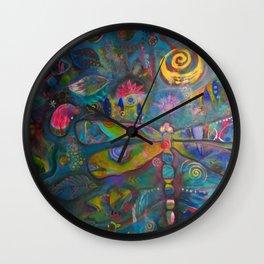 Ka'Pinao Spirit of Dragonfly  Wall Clock