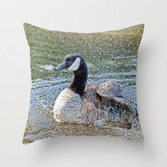 Splashing Time Throw Pillow