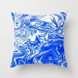Marbled XX Throw Pillow