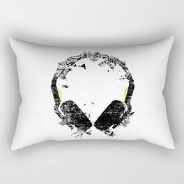 Art Headphones Rectangular Pillow