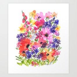 Summer's Country Garden Art Print