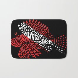 Tribal Scuba Flag Lionfish Bath Mat