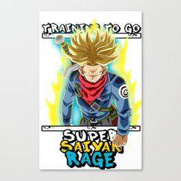Training to go super saiyan rage - Trunks Canvas Print