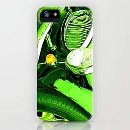Austin Healey Vintage Car Green Effect iPhone Case