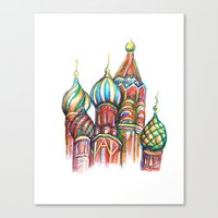 russia Canvas Prints featuring Russia by Lam Designs