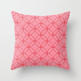Moorish Circles - Pink & Red Throw Pillow