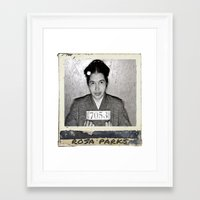 parks Framed Art Prints featuring Rosa Parks by Arron Davis