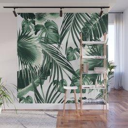 Tropical Jungle Leaves Dream #7 #tropical #decor #art #society6 Wall Mural