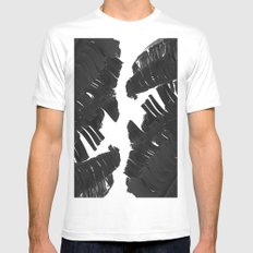Palm White MEDIUM Mens Fitted Tee