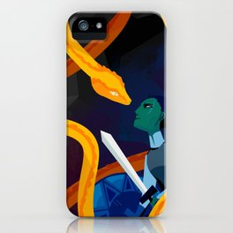 Facing the Serpent iPhone Case