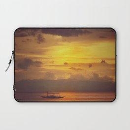 Romantic Beach Tropical Sunset Laptop Sleeve