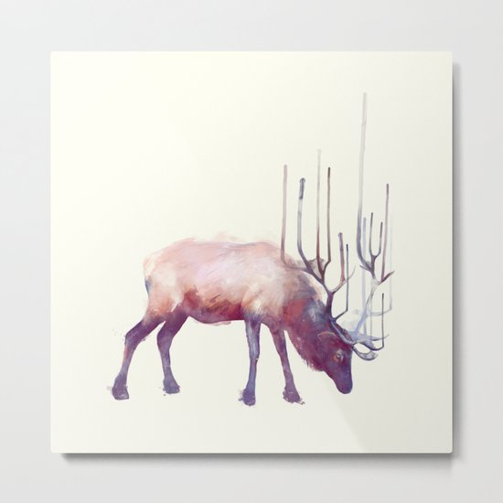 Elk // Solitude Metal Print