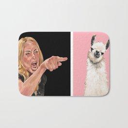 Woman Yelling at Llama Bath Mat