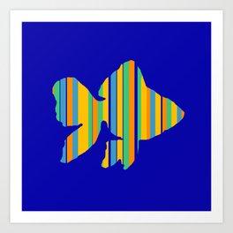 Goldfish Stripes Art Print