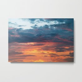 Vibrant Sunset Clouds Metal Print