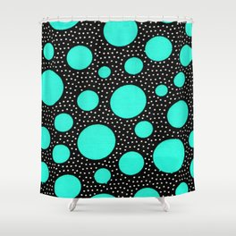 Galactic dots 2.0 Shower Curtain