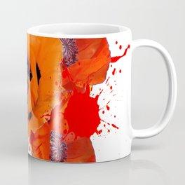 ORANGE POPPIES WATERCOLOR SPLATTER Coffee Mug