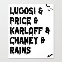 spooky bois Canvas Print