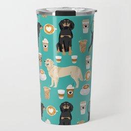 Golden Retriever and Coonhound design Travel Mug