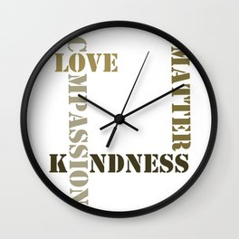 Kindness Wall Clock