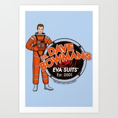 Dr. Dave Bowman's EVA Suits Art Print