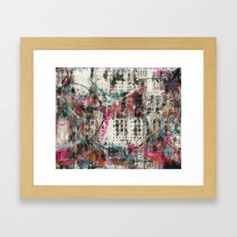 Analog Synthesizer, Abstract painting / illustration Framed Art Print