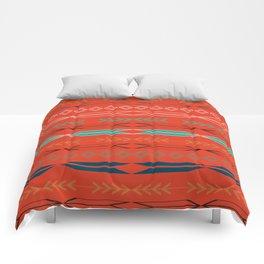 Navajo motifs in red Comforters