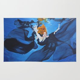 Escape Under Blue Rug