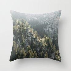 Mountain Lights - Landscape Photography Throw Pillow