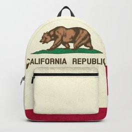 California Republic Flag Backpack