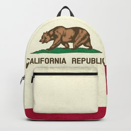 California Republic Flag Backpack