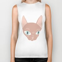 sphynx Biker Tanks featuring Sphynx by Shaye Display Illustrations