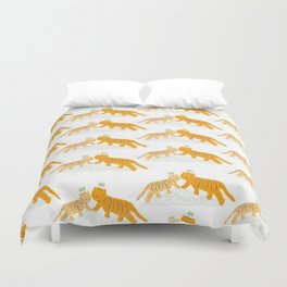 Lucky Orangie Tigers Duvet Cover