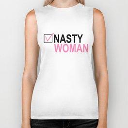 Vote Nasty Woman Biker Tank