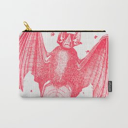 Pink Bats Paint Pattern Carry-All Pouch