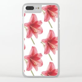 Amaryllis pattern Clear iPhone Case