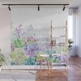 Summer Succulents Wall Mural
