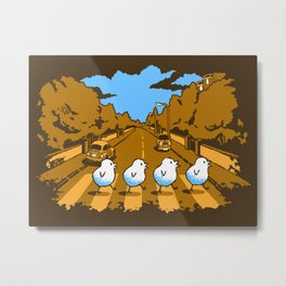 Why Did The Chicken Cross Abbey Road...? Metal Print