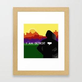 I AM DETROIT Framed Art Print