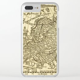 Vintage map of Europe Clear iPhone Case