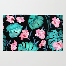 Monstera & Floral Rug