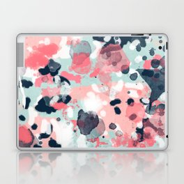 Jilly - modern abstract gender neutral canvas art print large scale abstract painting Laptop & iPad Skin