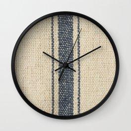 Vintage French Farmhouse Grain Sack Wall Clock