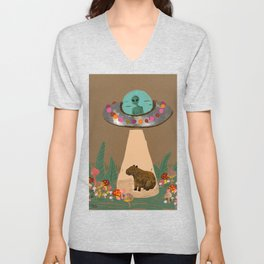 friendship ended with cows now capybara is my best friend Unisex V-Neck