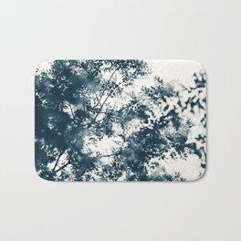 Blue Leaves #1 Bath Mat