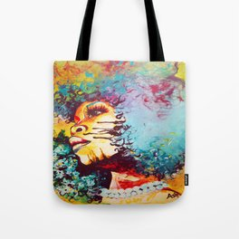 Unstrained Afro Blue Tote Bag