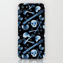 Dem Bones - Black iPhone Case