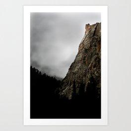 Dark Canyon Art Print